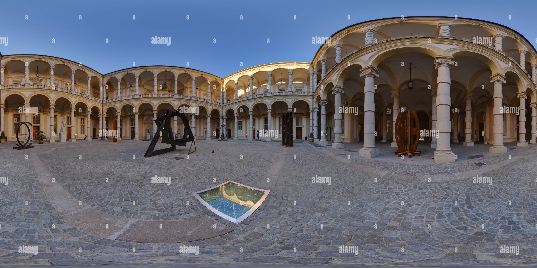 360 degree panoramic view of Universita' di Torino - Cortile del Rettorato