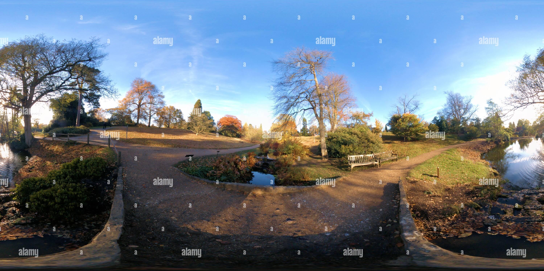 Wakehurst Place - Water Gardens - Stock Image