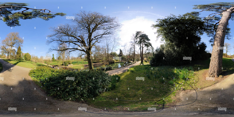 Wakehurst Place Water Gardens - Stock Image