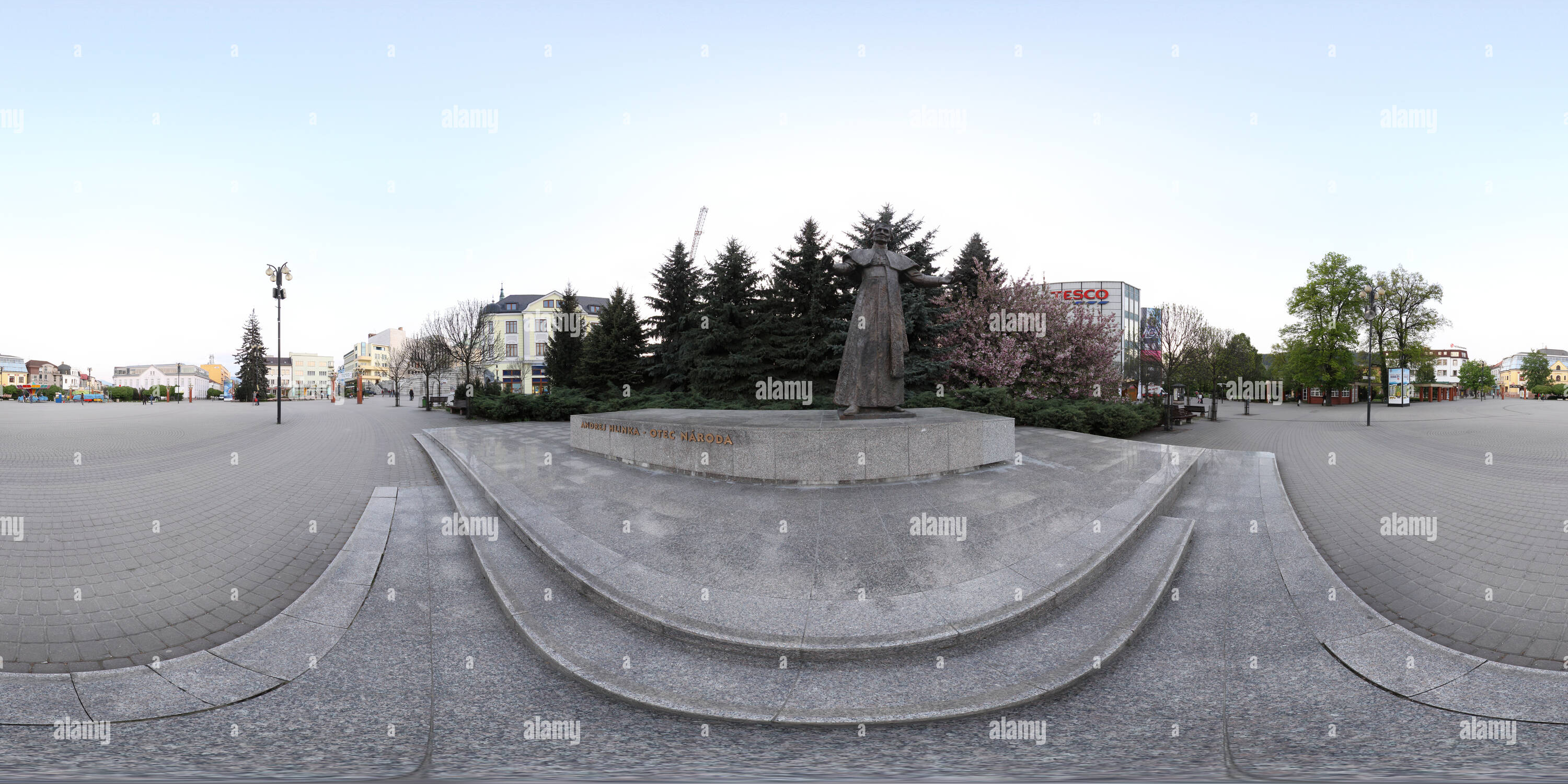 Statue - Andrej Hlinka - Father of the Nation - Stock Image