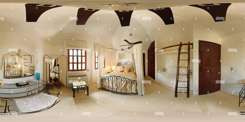 Casa del Secreto - 2nd Floor Bedroom - Stock Image