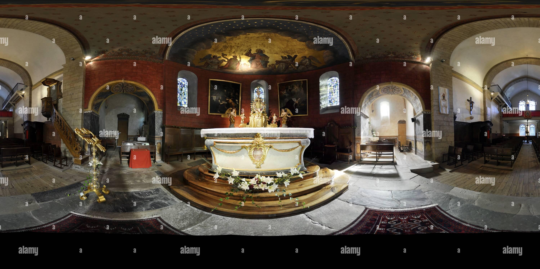 eglis des Templiers Lus-saint-saveur - Stock Image