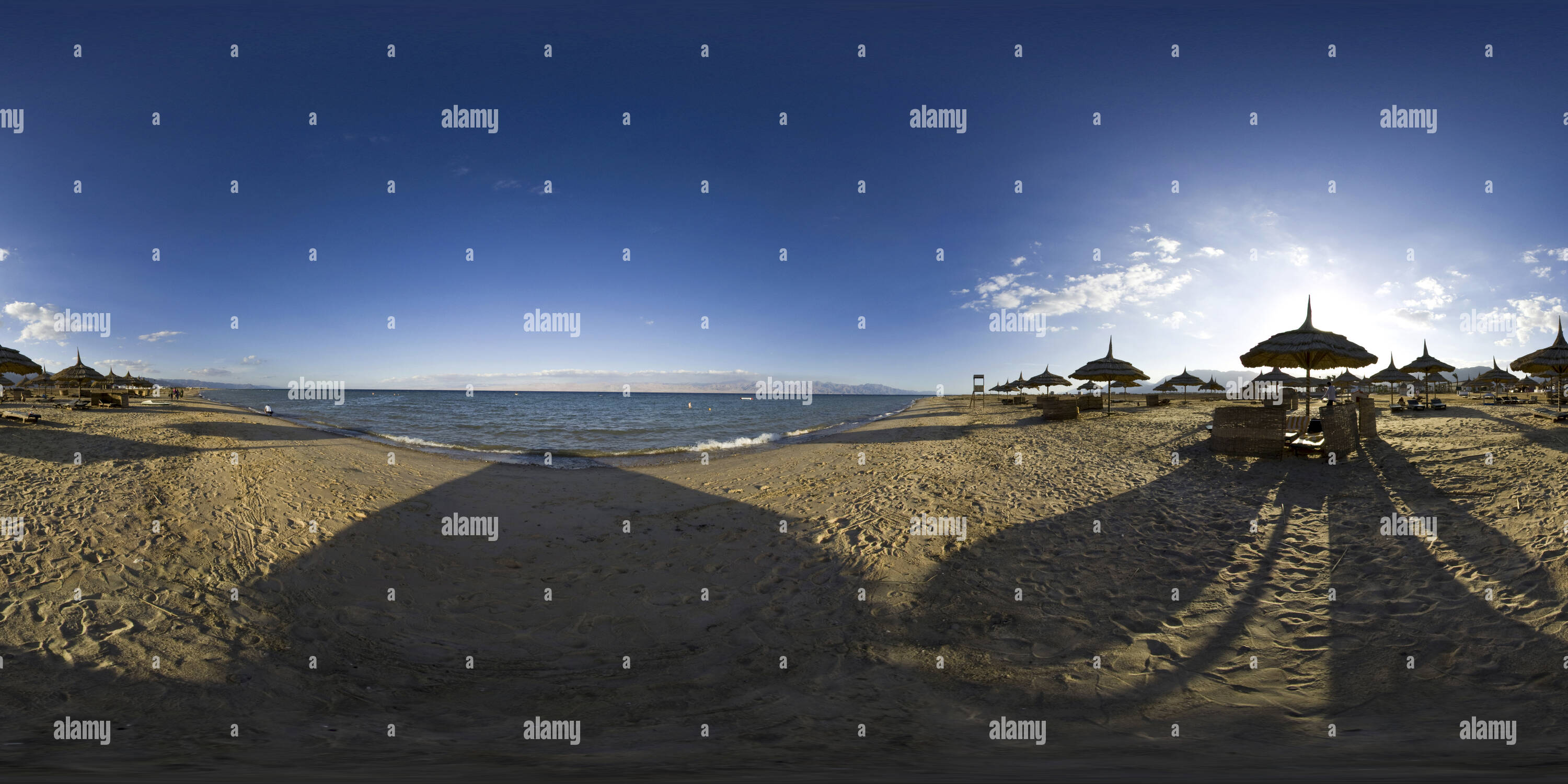 Beach in Nuweiba - Stock Image
