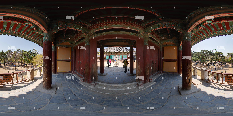 360 degree panoramic view of Geukrakjeon from Anyangmun, Bulguksa temp, Kyeongju