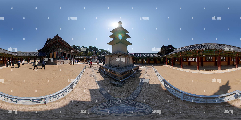360 degree panoramic view of Seokgatap and Dabotap, Bulguksa temple, Kyeongju