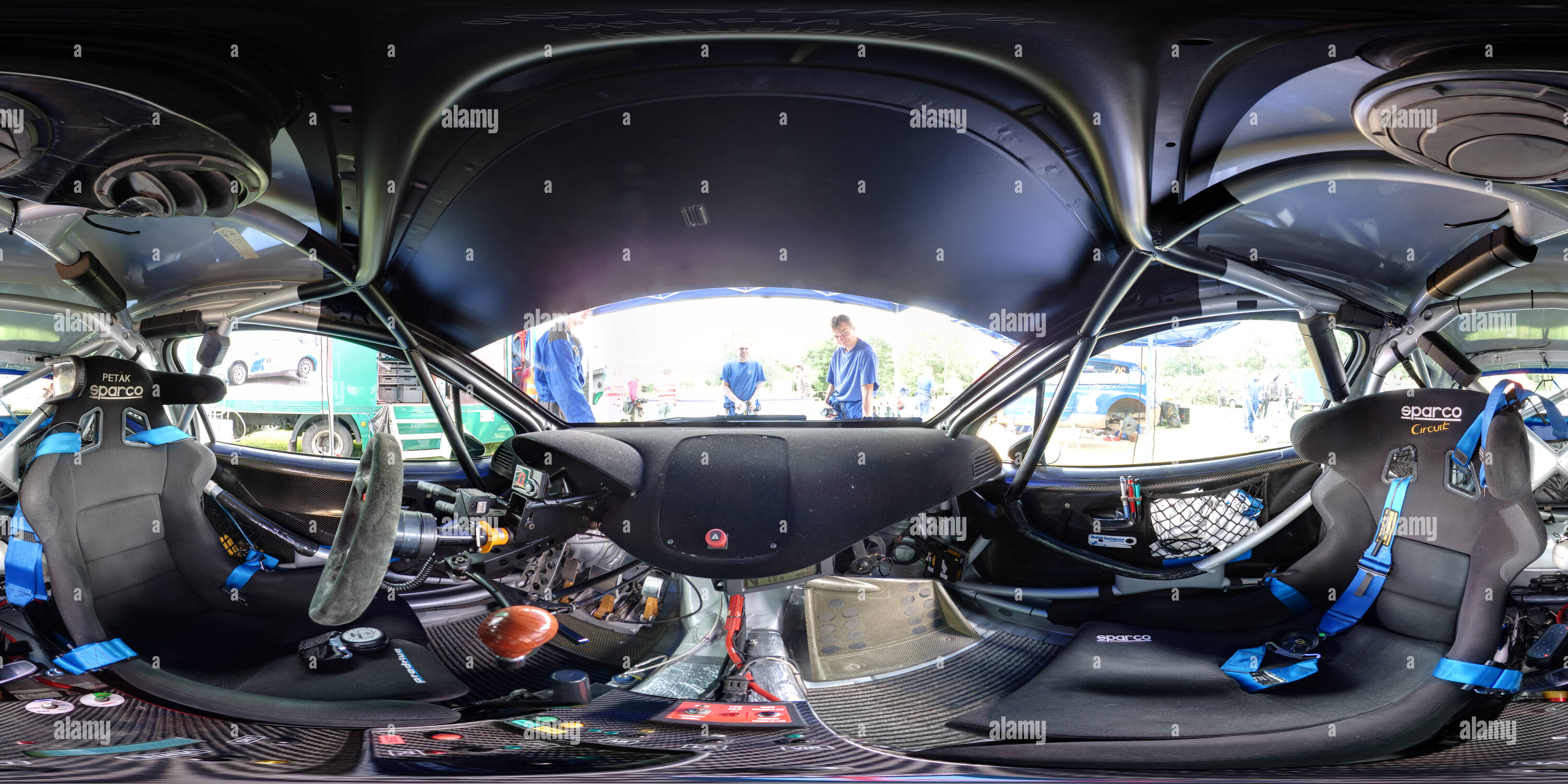 Peugeot 207 S2000 Rally Car Interior - Stock Image