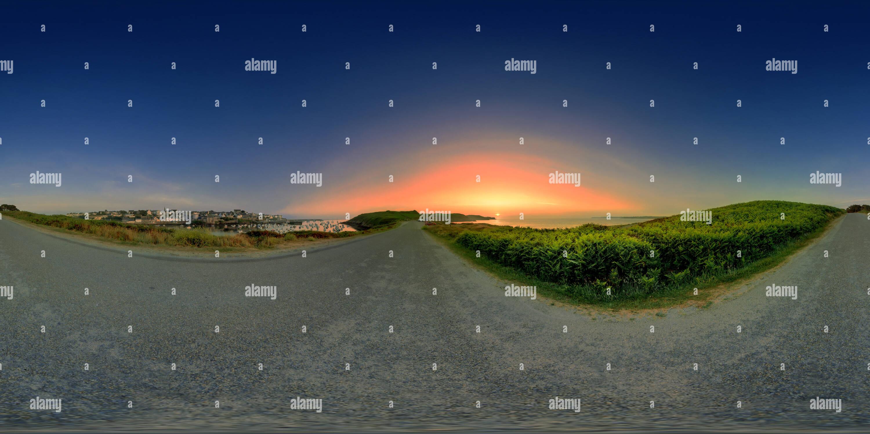 360 degree panoramic view of Coucher de Soleil au Pointe de Kermorvan  finistere