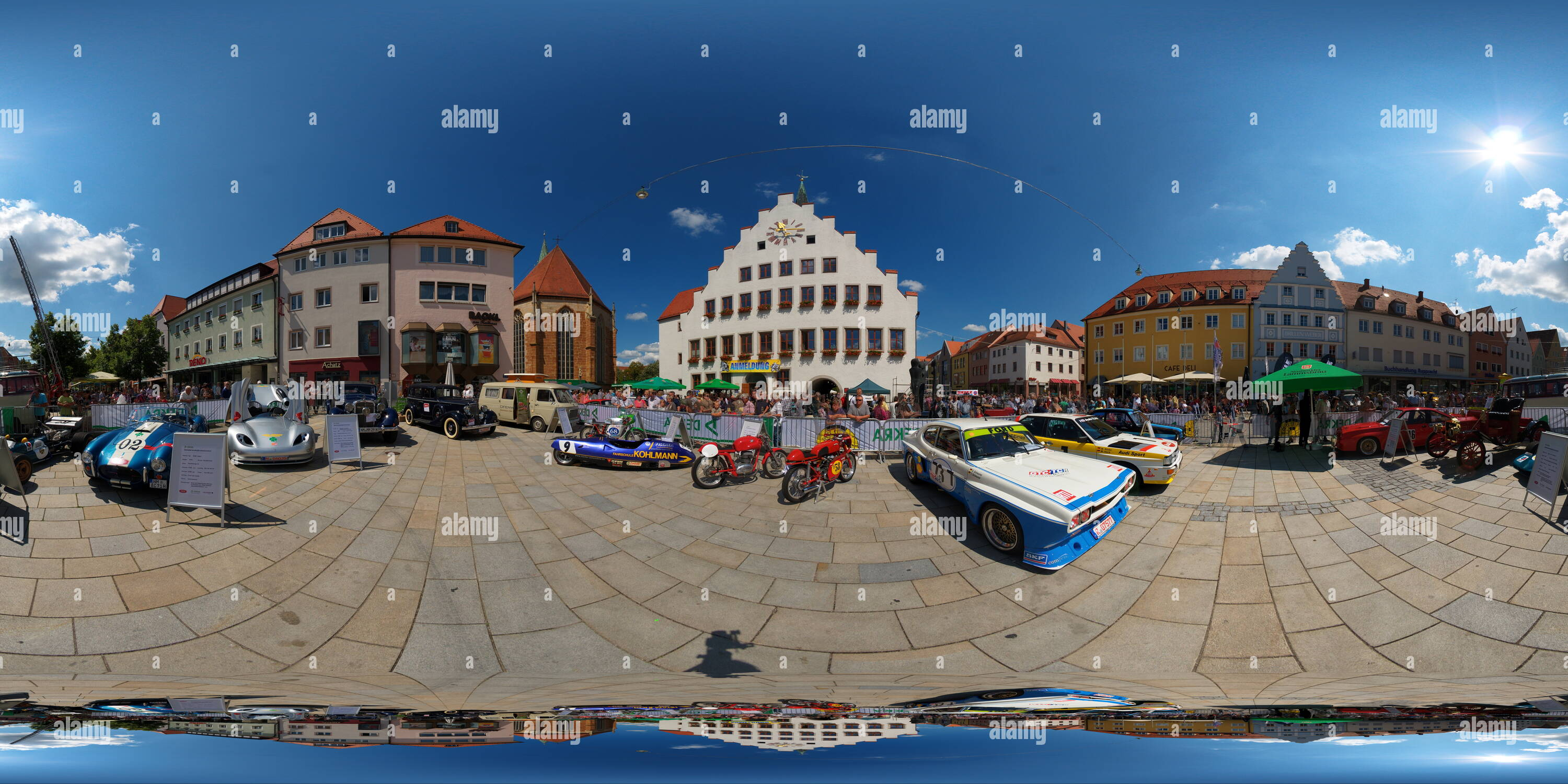 360 degree panoramic view of Rathausplatz Oldtimertreffen Neumarkt 2011