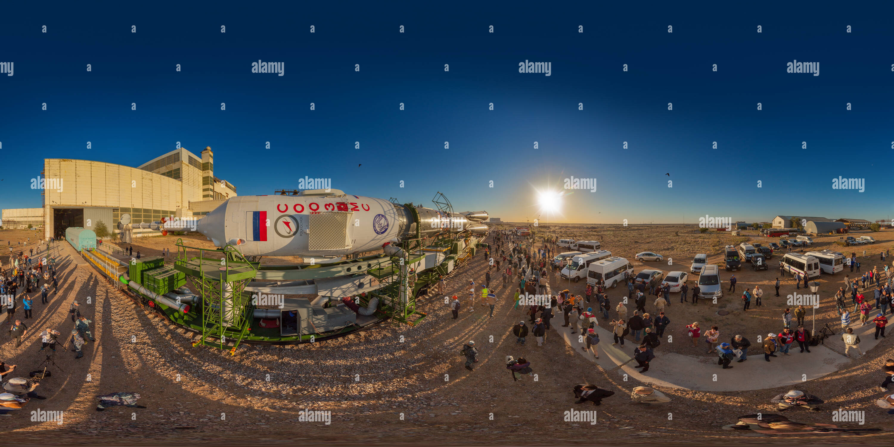 Soyuz MS-09 rolled to launch pad - 1 - Stock Image