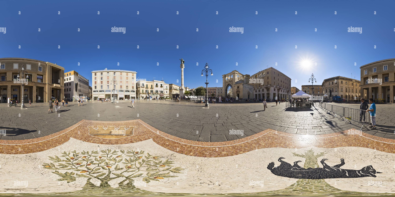 360 degree panoramic view of Mosaico della Lupa, Lecce, Apulia, Italy