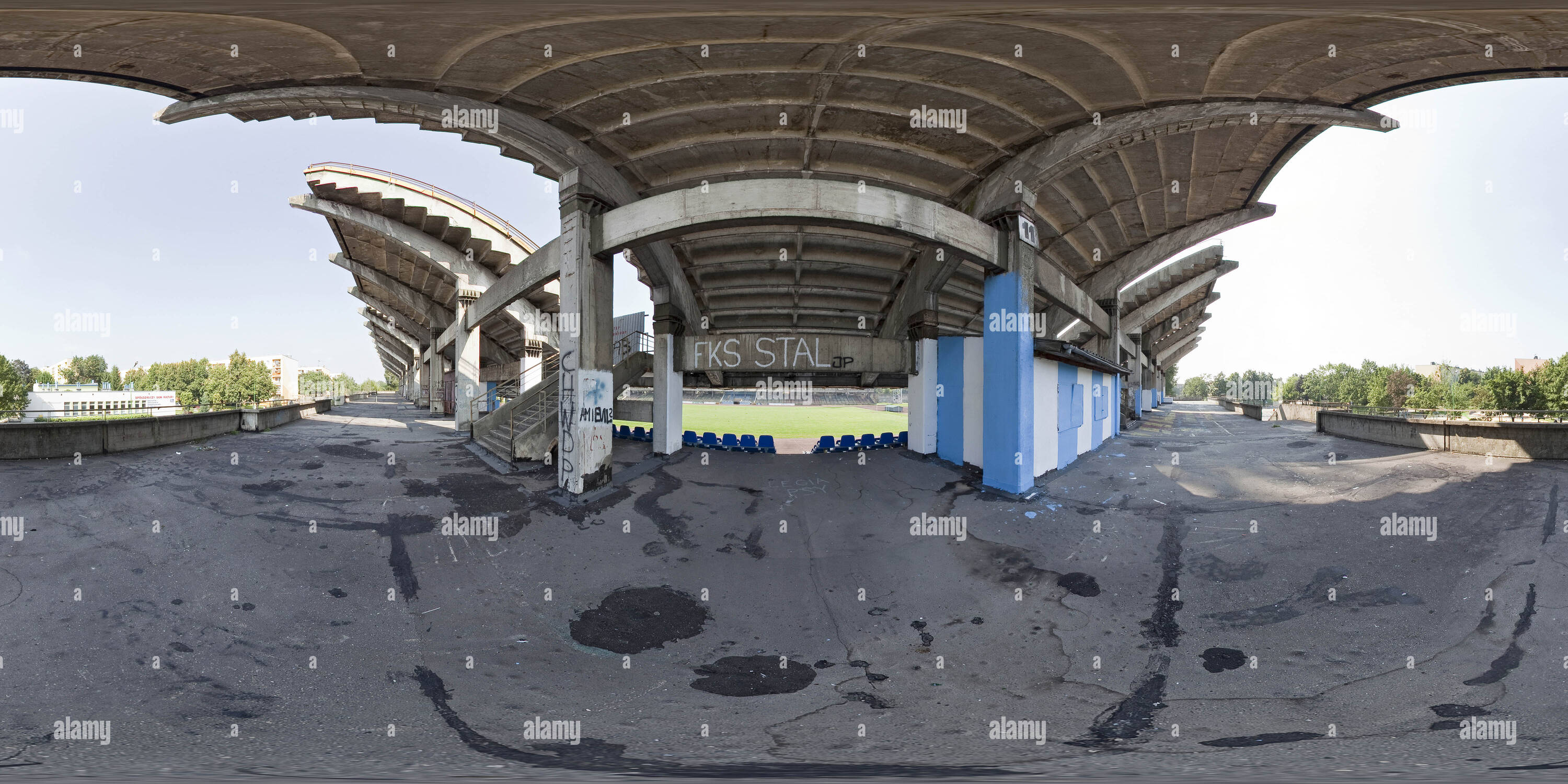 "360 degree panoramic view of ""FKS Stal Mielec"" - Old Stadium"
