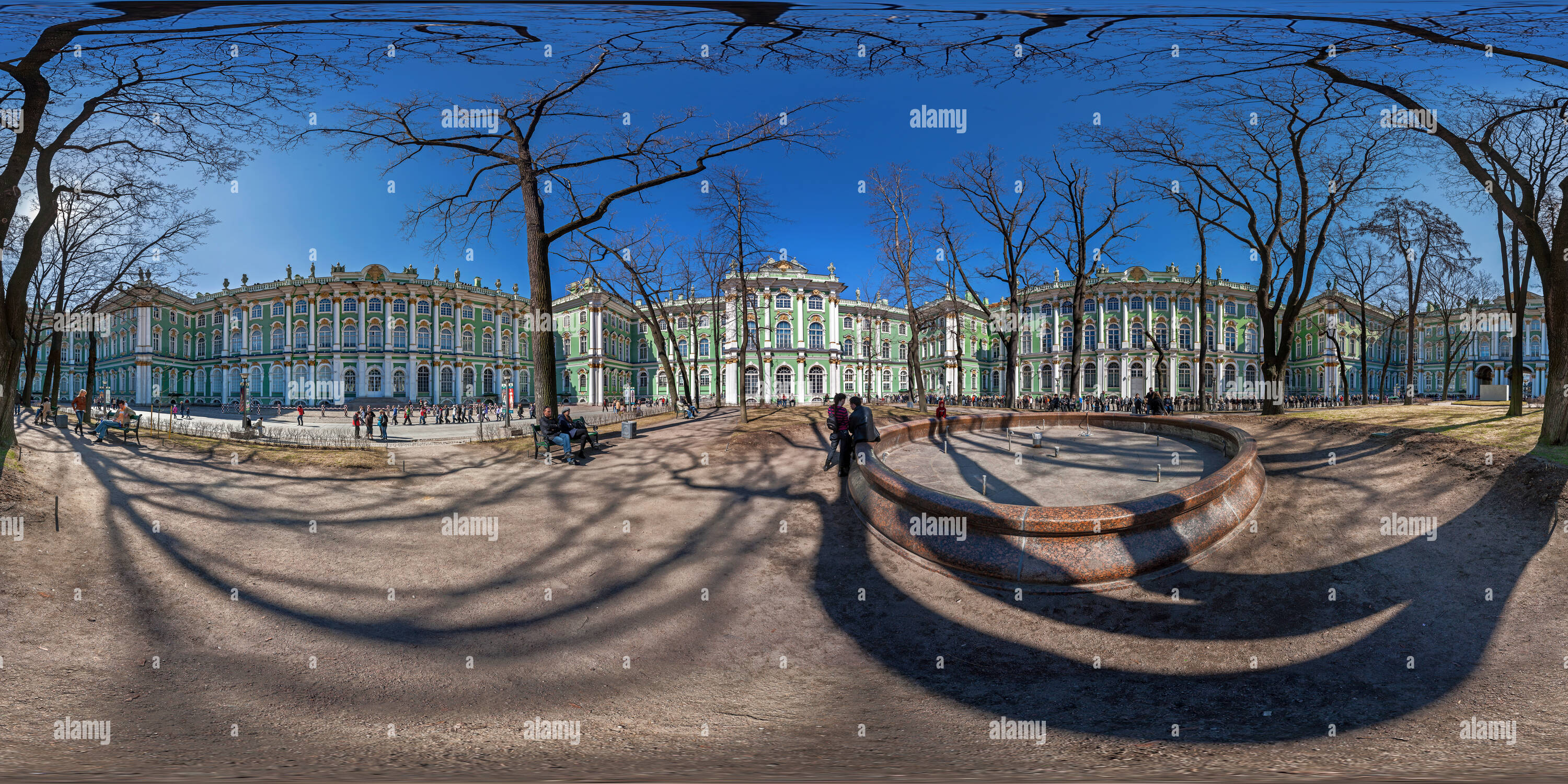 courtyard garden of the Winter Palace - Sankt-Peterburg - Stock Image