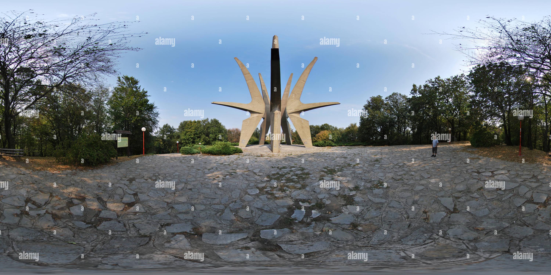 360 degree panoramic view of Spomenik na Kosmaju