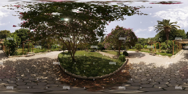 360 degree panoramic view of Pasteur  Square   in  Bejaia