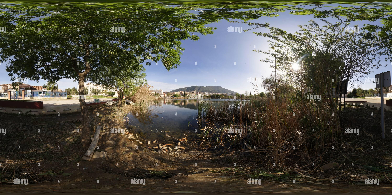 360 degree panoramic view of Mezaia Lake at Bejaia