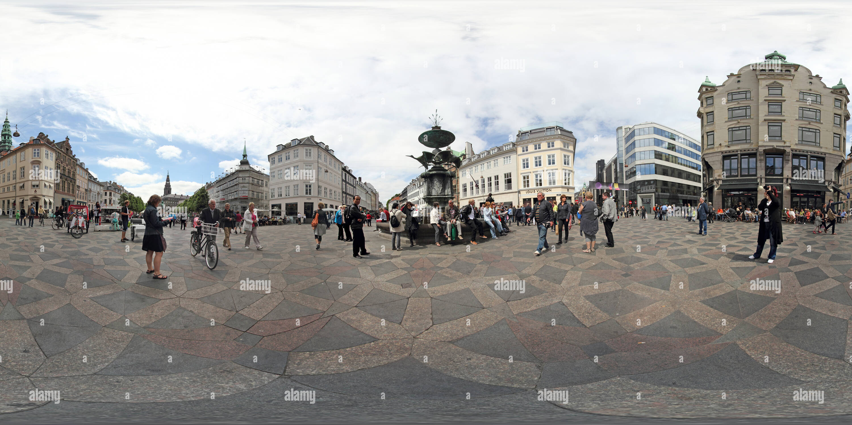 Kopenhagen City - Storchspringbrunnen - Stock Image