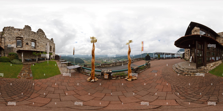 360 degree panoramic view of Burg Landskron
