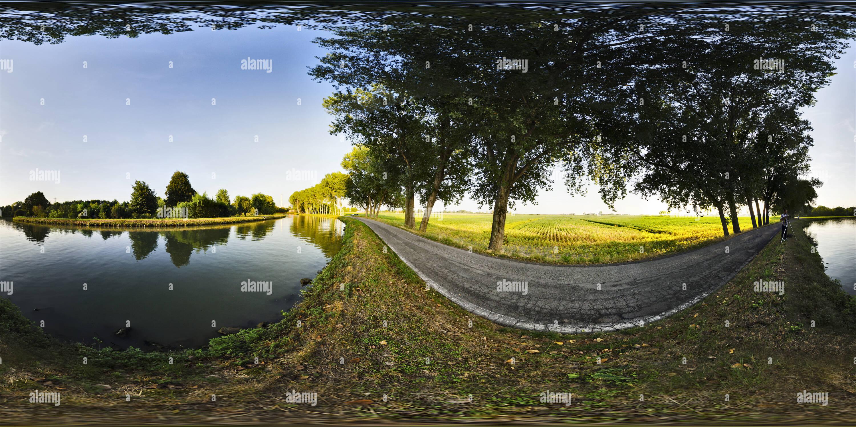 360 degree panoramic view of Malcontenta - Fusina (Ve)