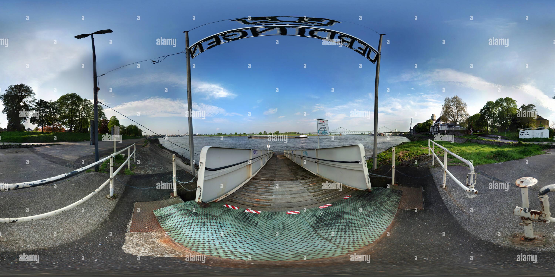 Krefeld Uerdingen ponton bridge pier - Stock Image