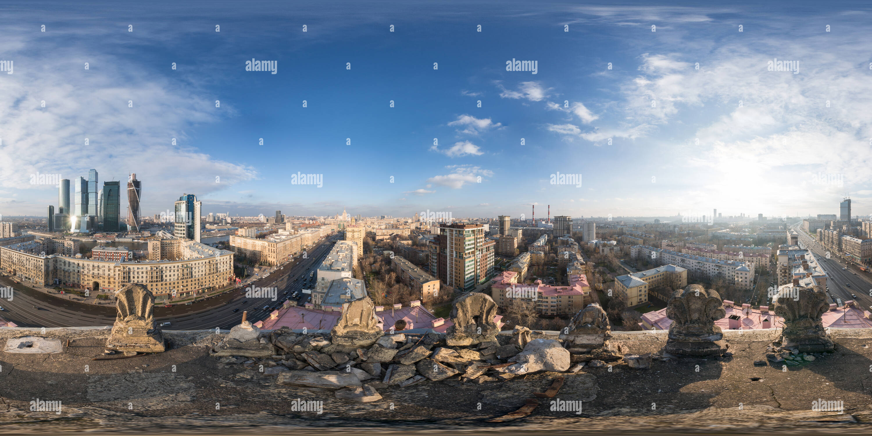 Kutuzov Avenue from the roof - Stock Image