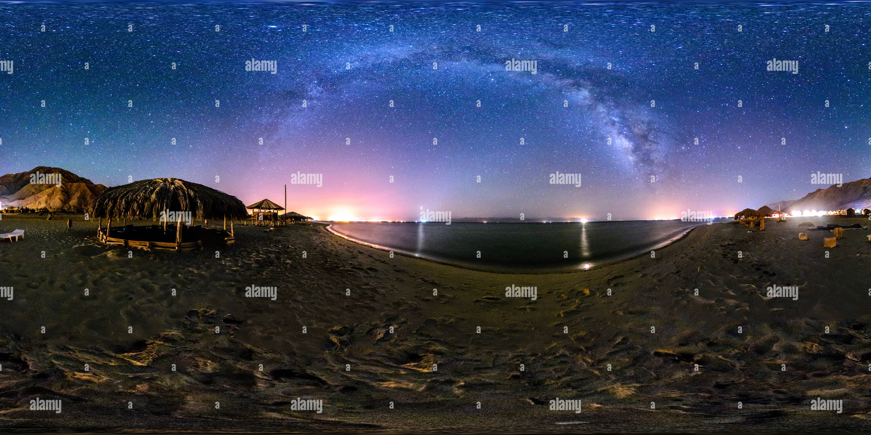 Cosmic Panorama of Aqaba Gulf Nuweiba - Stock Image