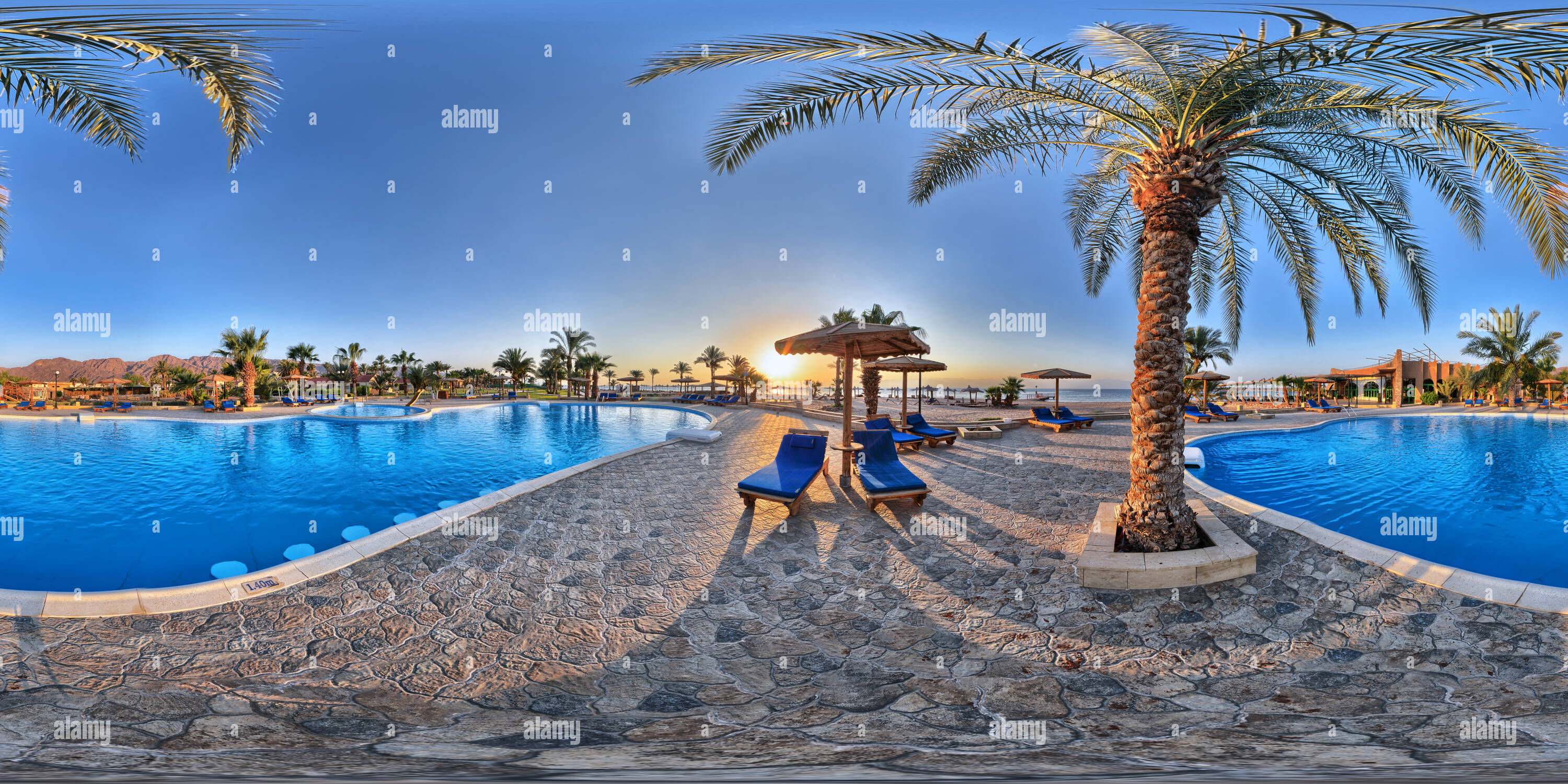 Helnan Nuweiba Swimming Pool - Stock Image