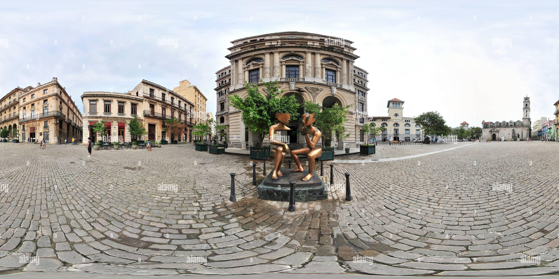 Cuba - Havanna, La Conversacion Del Escultor Frances Etienne Pirot - Stock Image