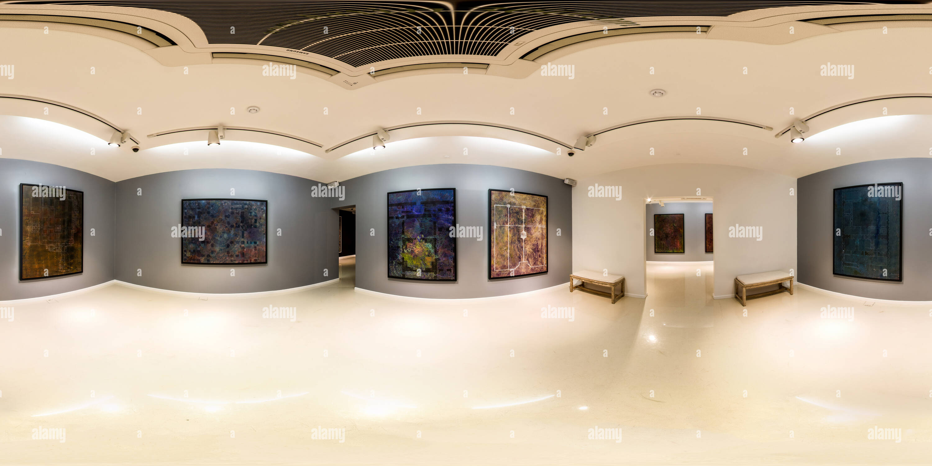 Boom Art Gallery Nov Dec 2014 Vision Of Three 01 - Stock Image