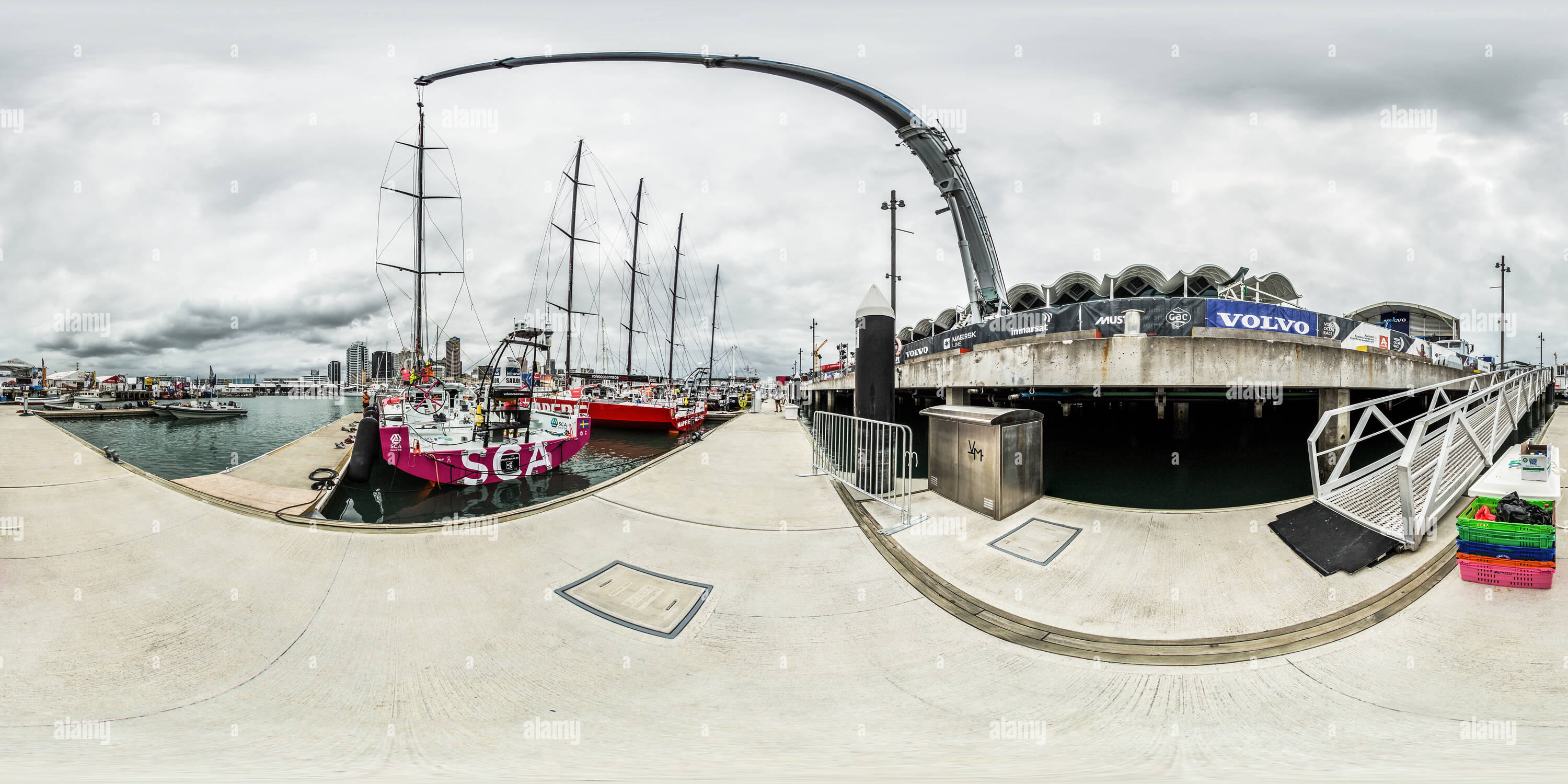 ad7c8211f9e6 Team SCA - VO65 Rigging - Berthing Pontoons - Volvo Ocean Race 2015 Auckland  Stopover - New Zealand