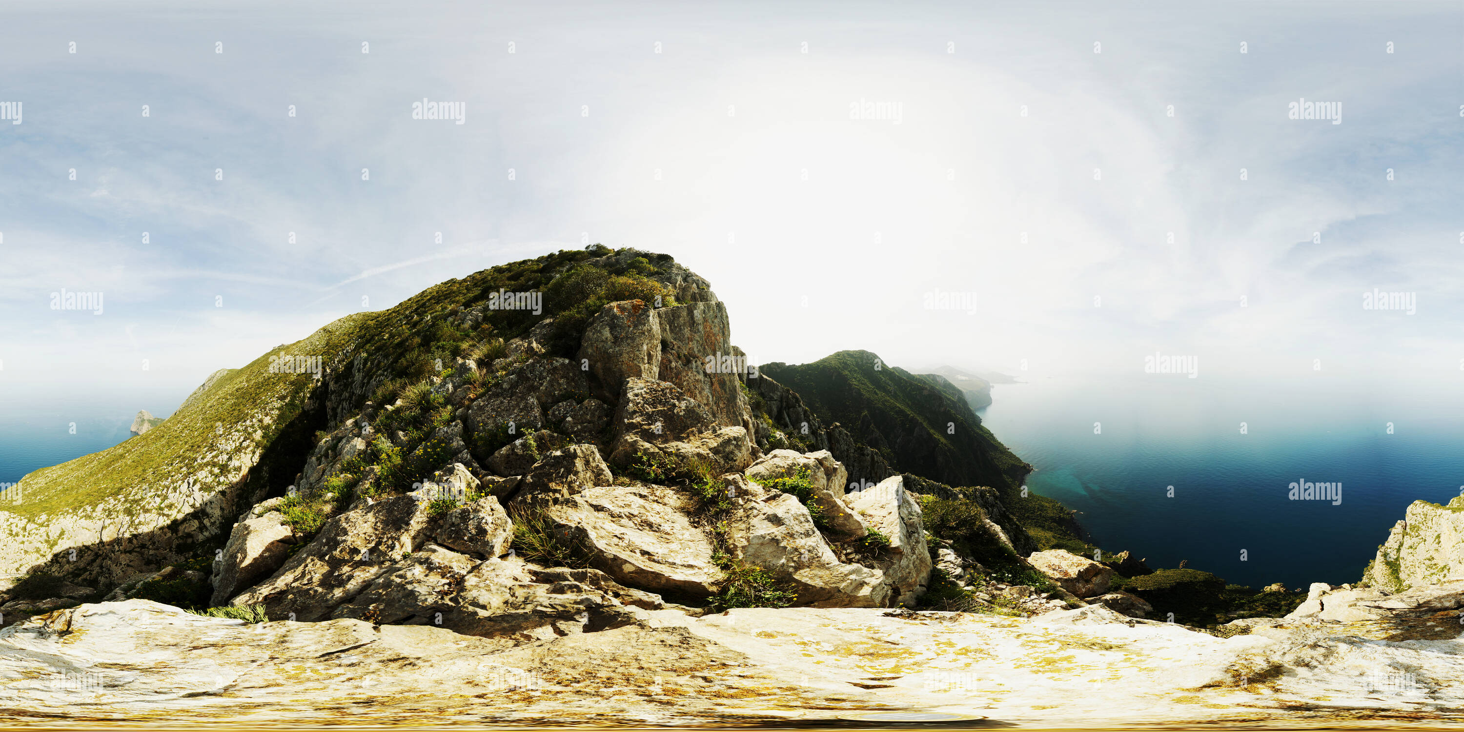 360 degree panoramic view of North Face of Gouraya at Bejaia