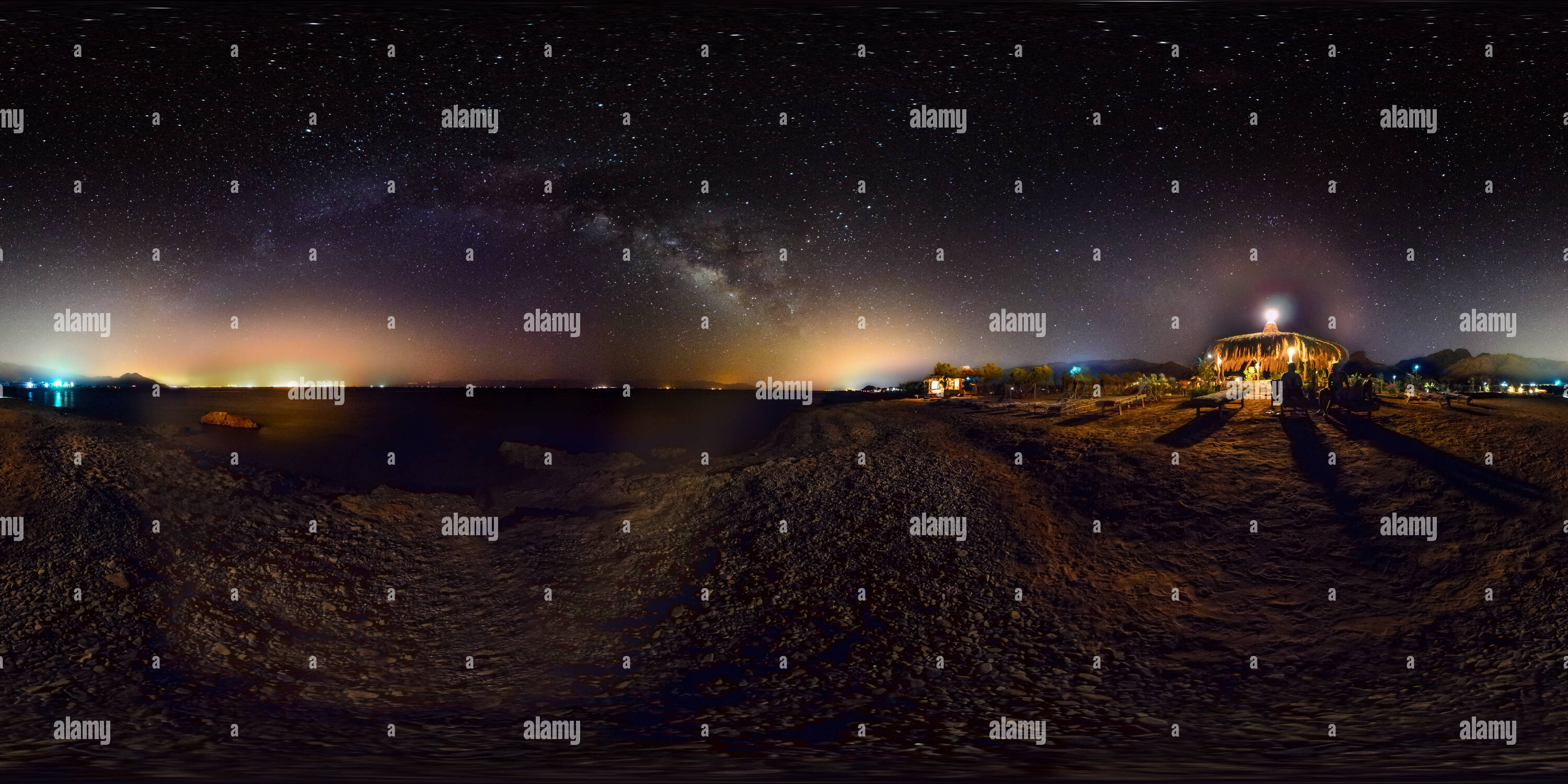 Milkyway over Nuweiba Beack - Stock Image