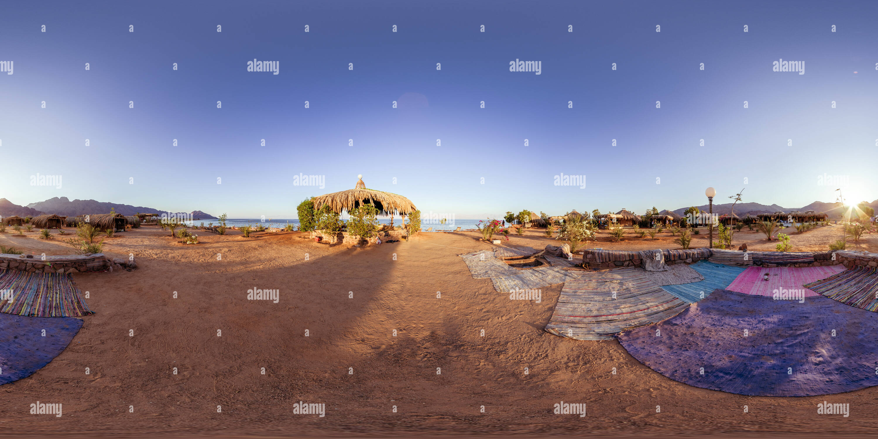 Sunset over Nuweiba Beach - Stock Image