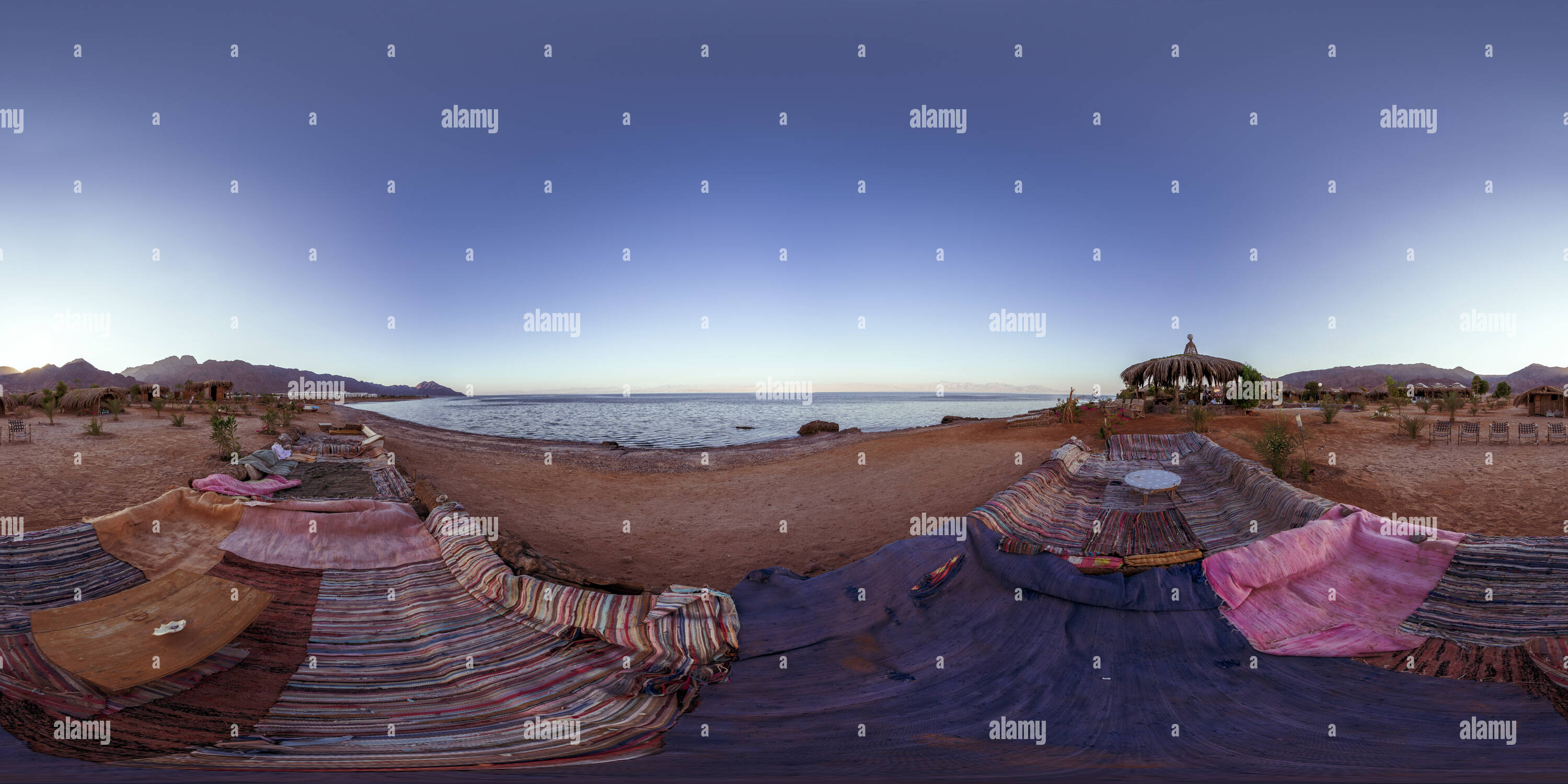 Dinning Area by the beach - Stock Image