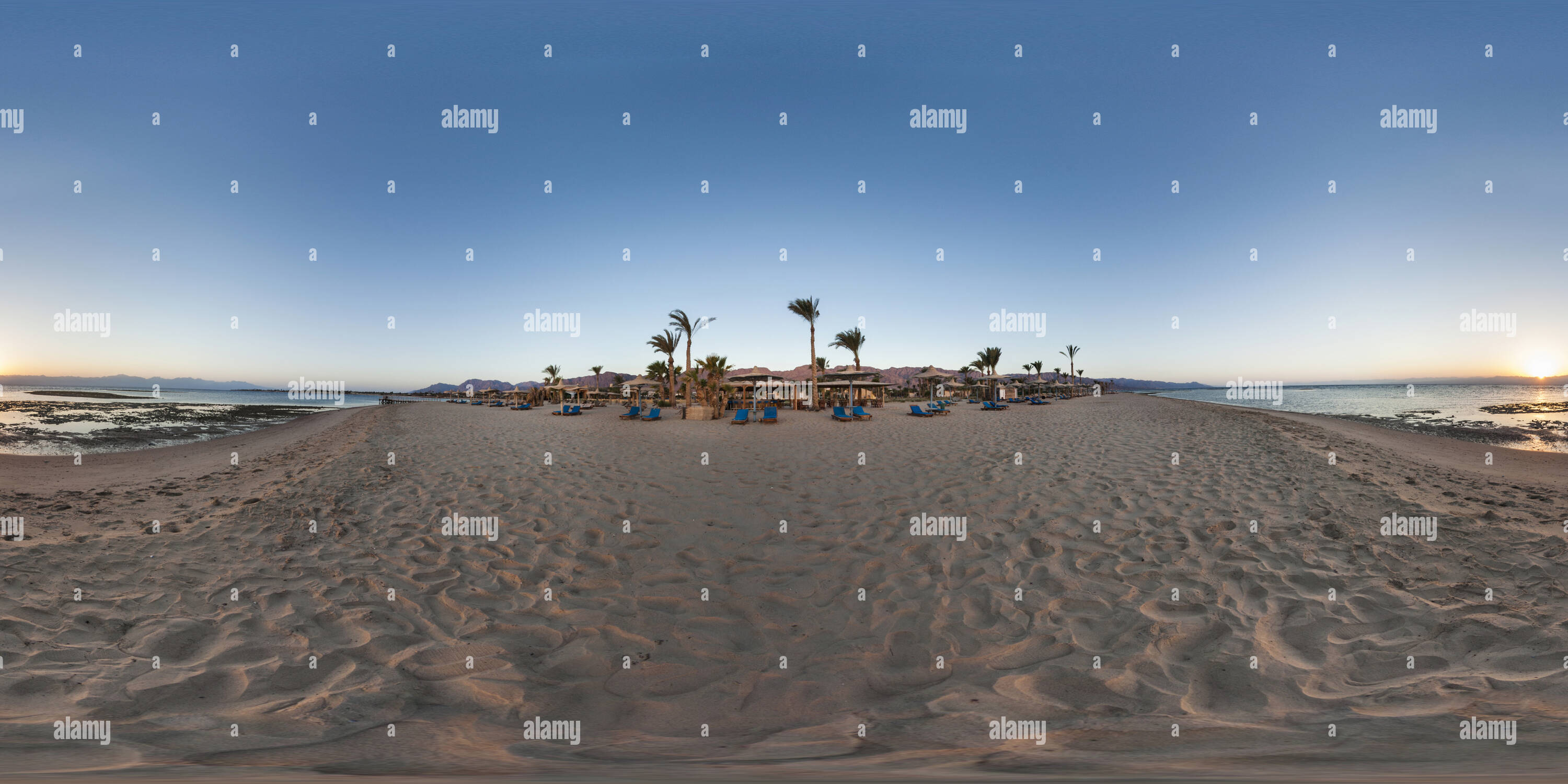 Sunrise at Nuweiba beach, Sinai - Stock Image