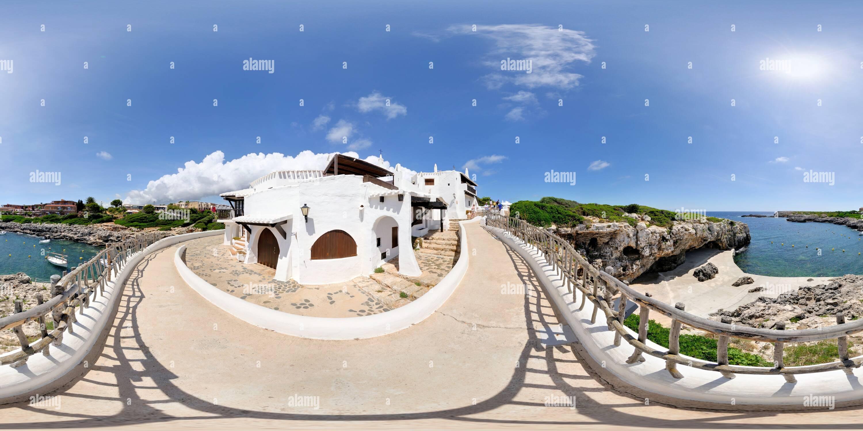 360 degree panoramic view of Binibeca, Menorca, Spain (8101)