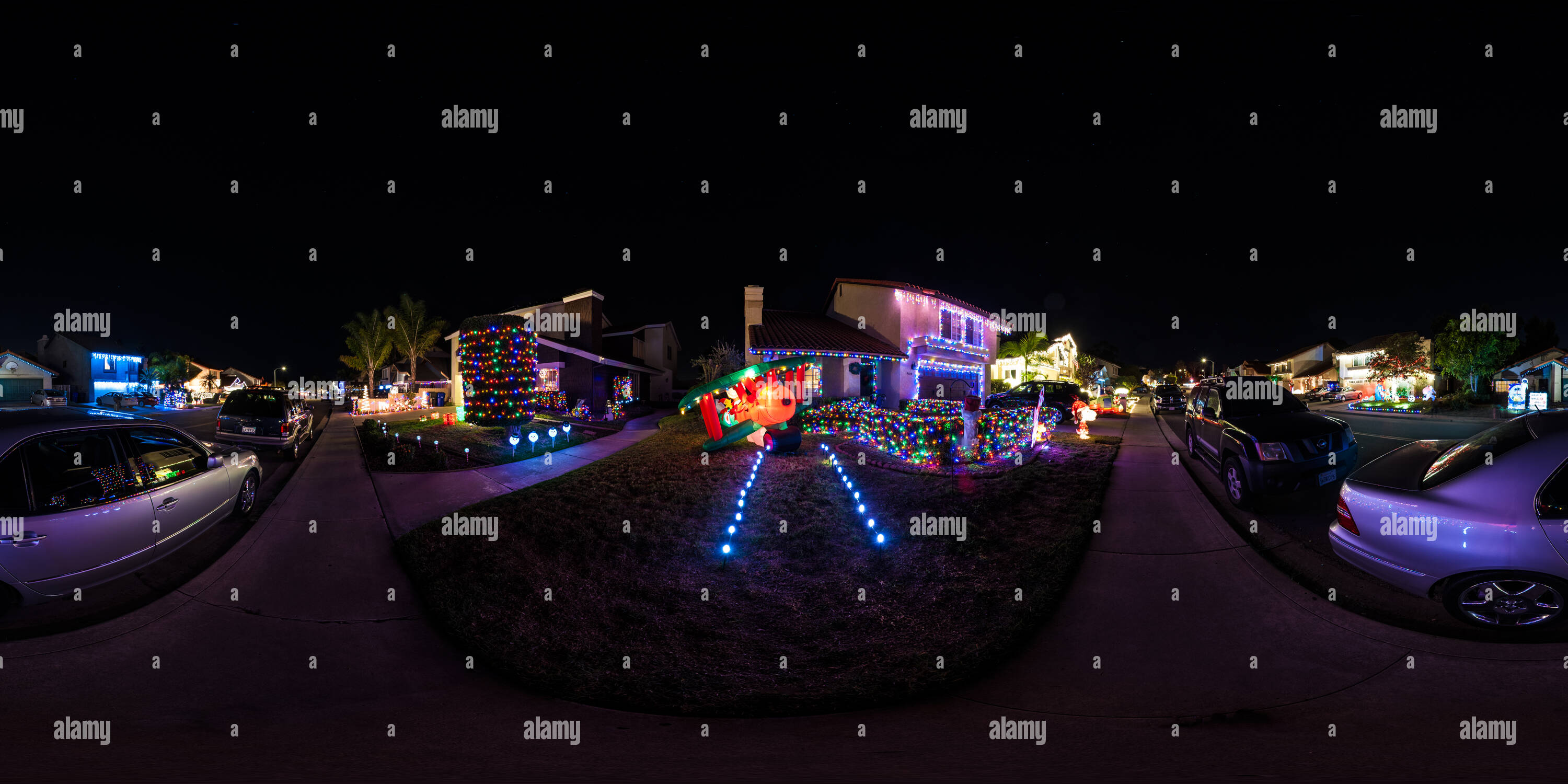 360 View Of Christmas Card Lane 219631903 Alamy