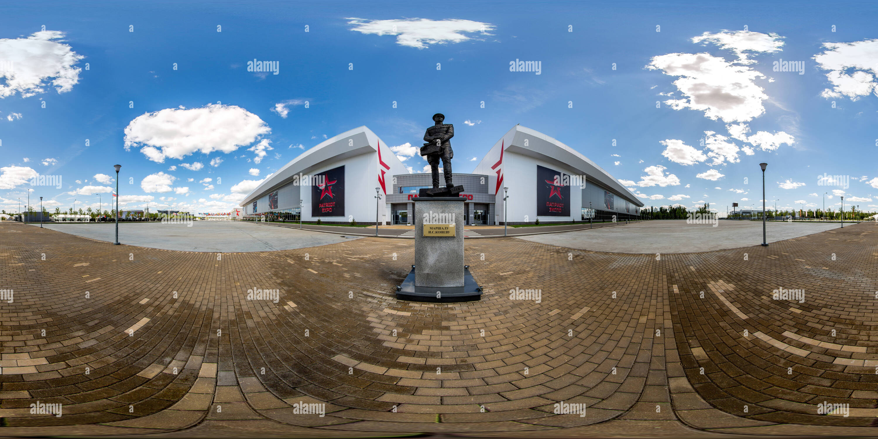 "The monument to Marshal Ivan Konev in the military-Patriotic Park ""Patriot"" - Stock Image"