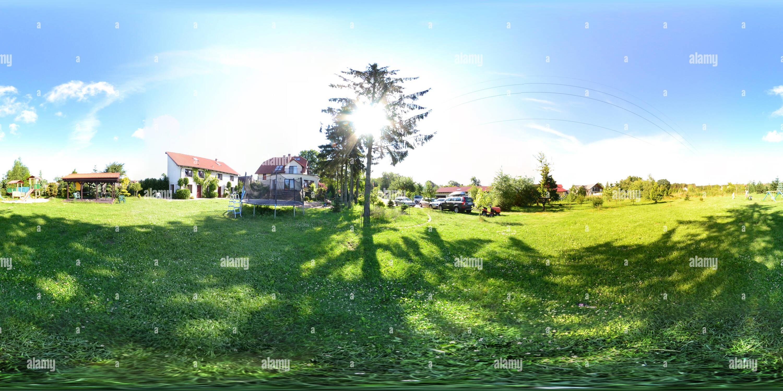 360 degree panoramic view of Swinemünde Ortsteil Lunowo in Polen