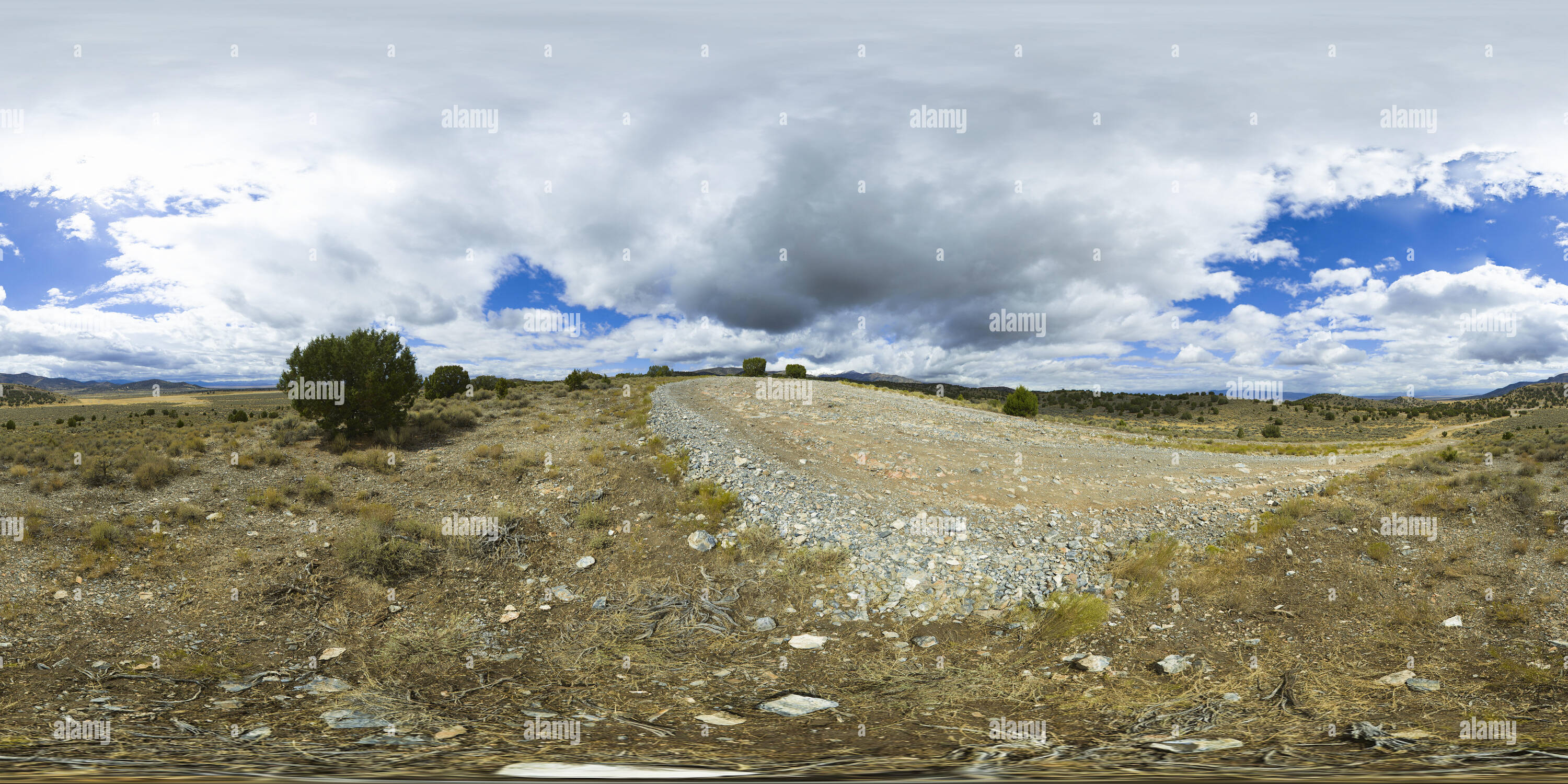 360 View of VR 360 Spherical panorama of a desert road through