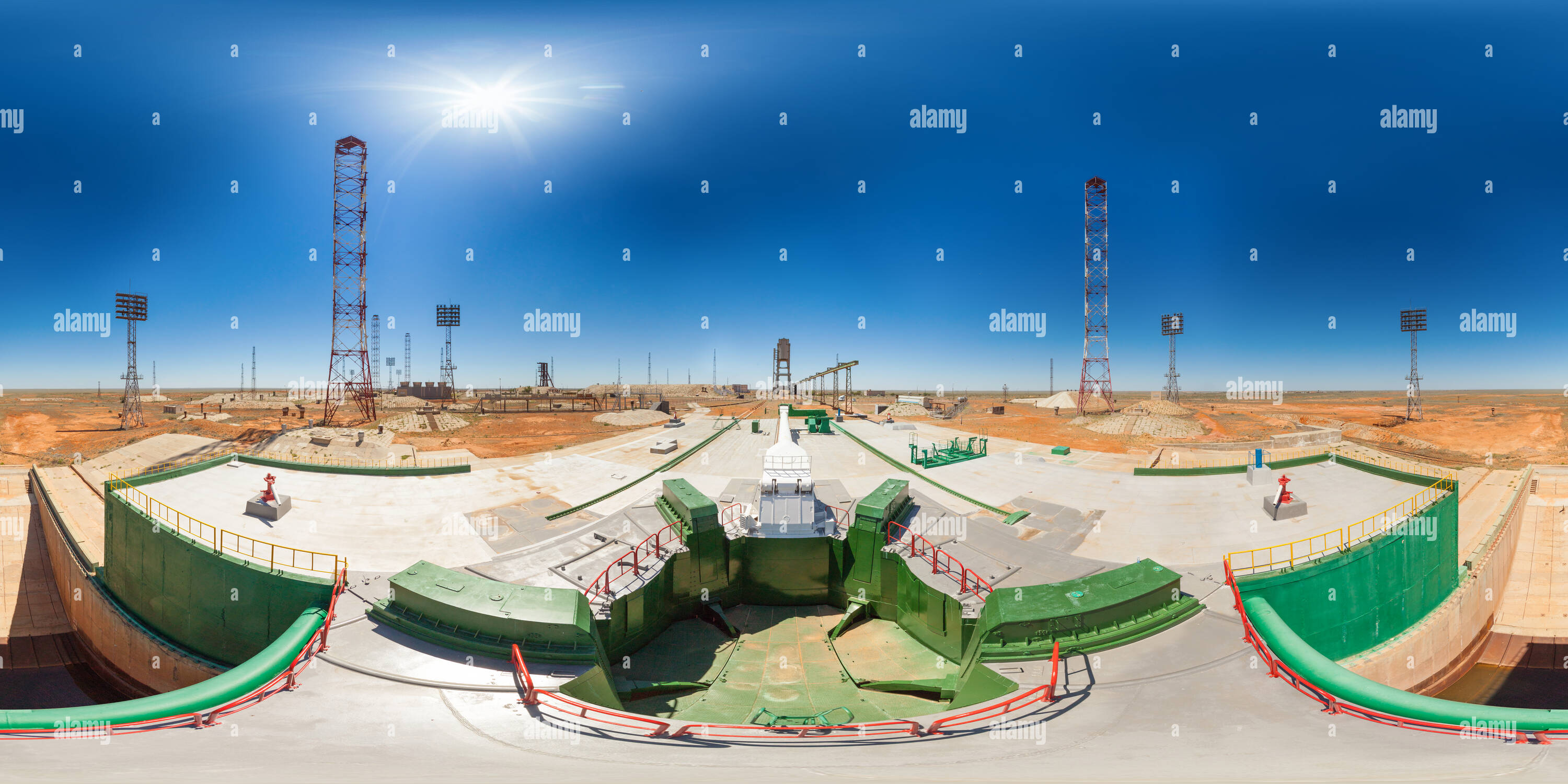Launch Site: Baikonur, Pad 45/1 - Stock Image