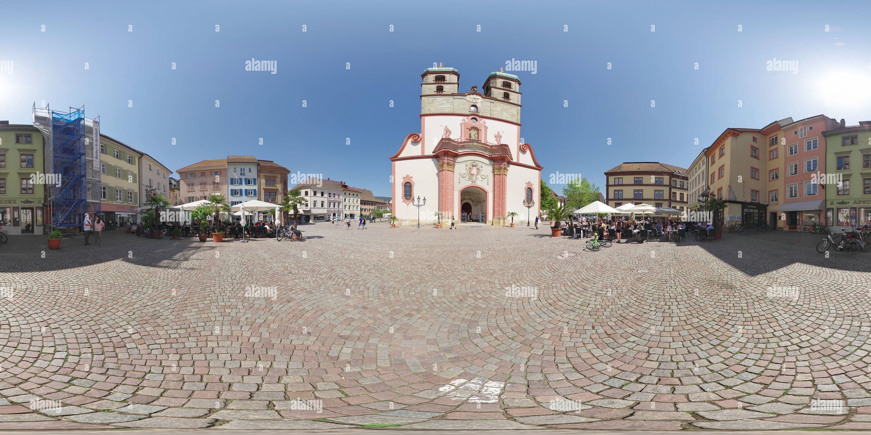 Saint Fridolin Minster in Saeckingen - Stock Image