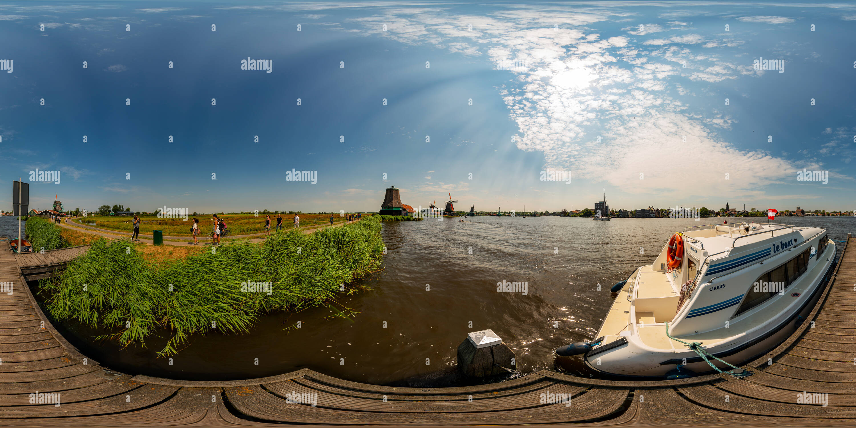 Boat in the open-air museum Zaanse Schans - Stock Image
