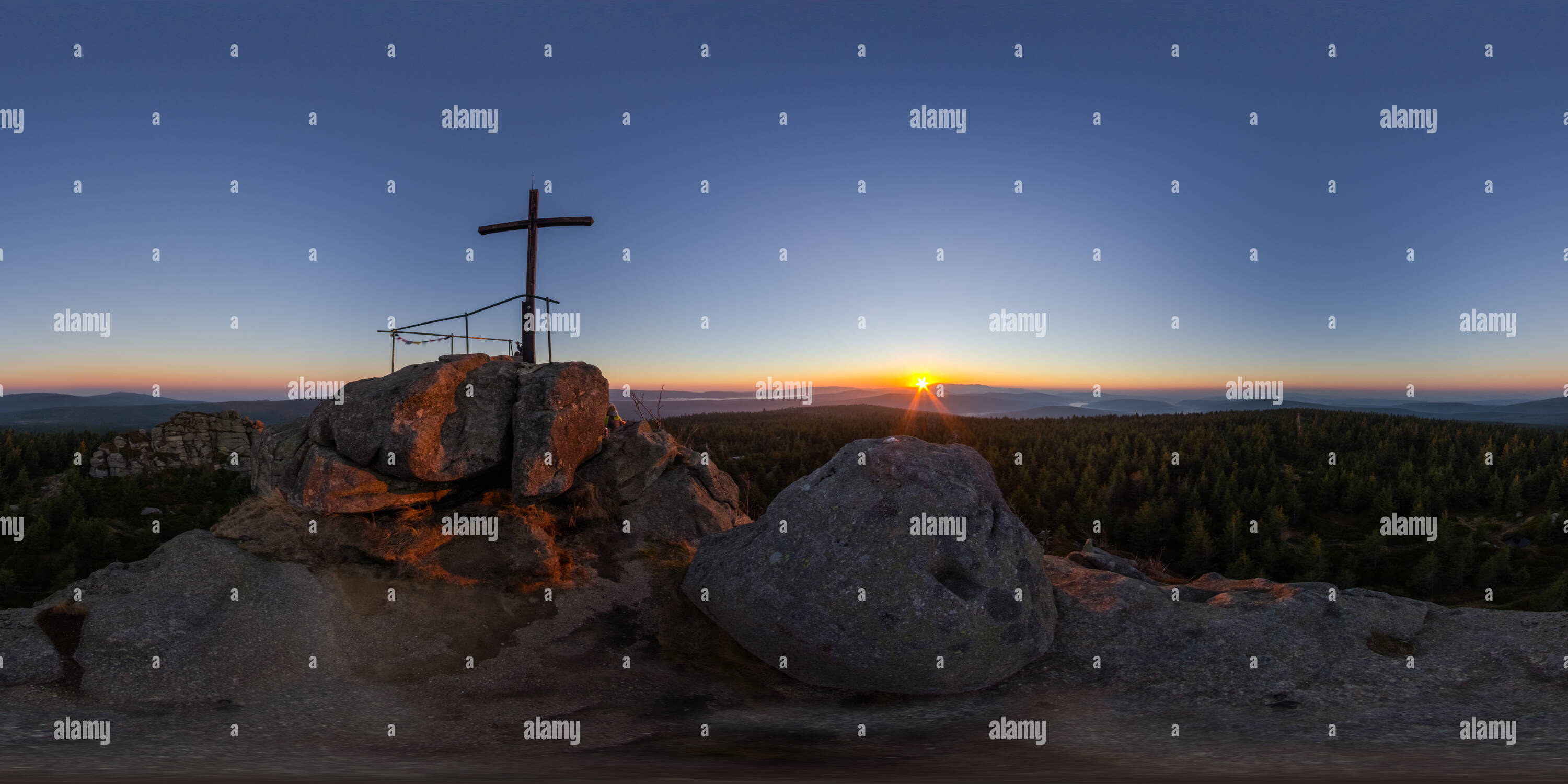 Sunrise at Jizera - Stock Image