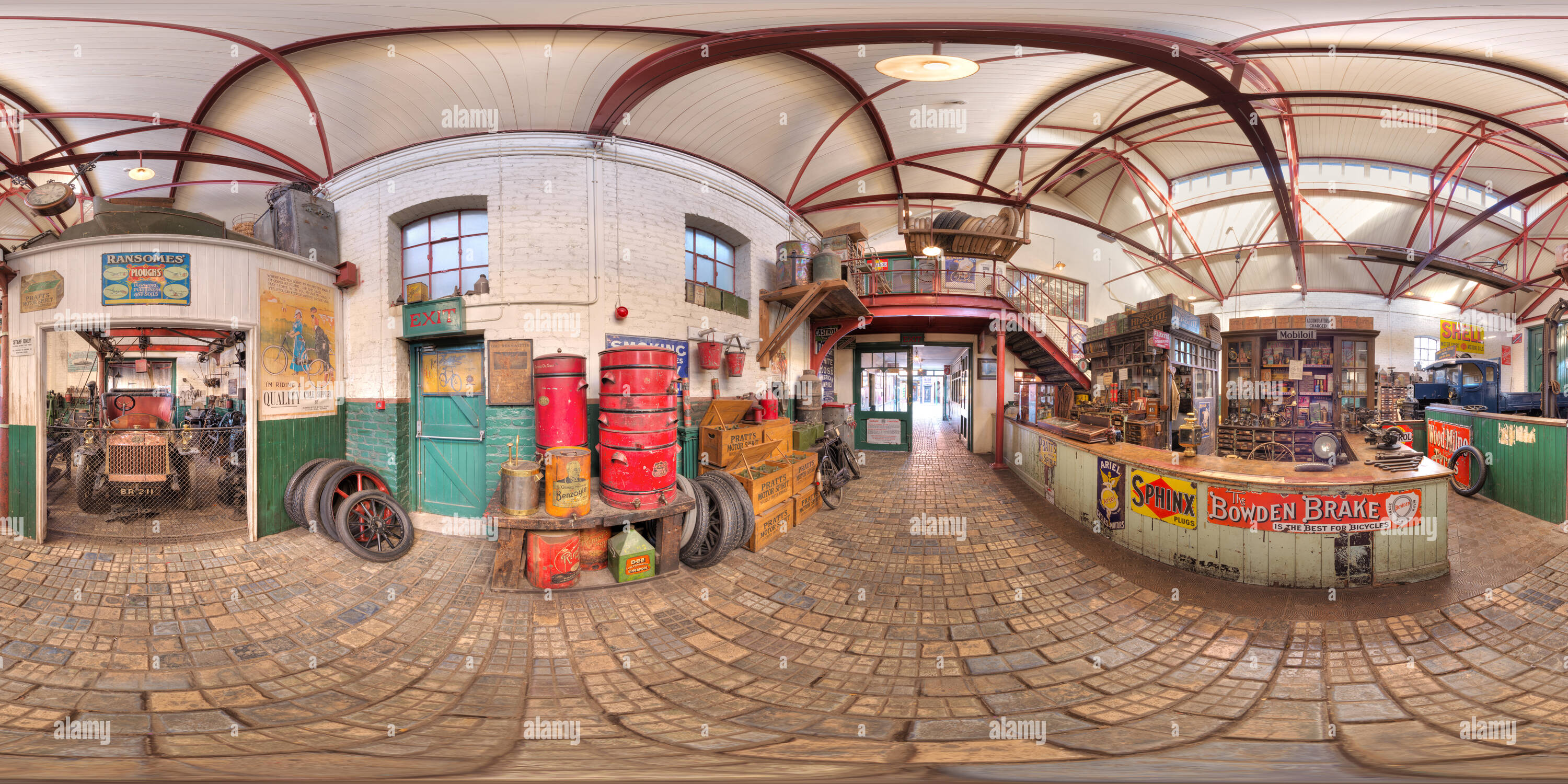 The Garage at Beamish Open-Air Museum - Stock Image