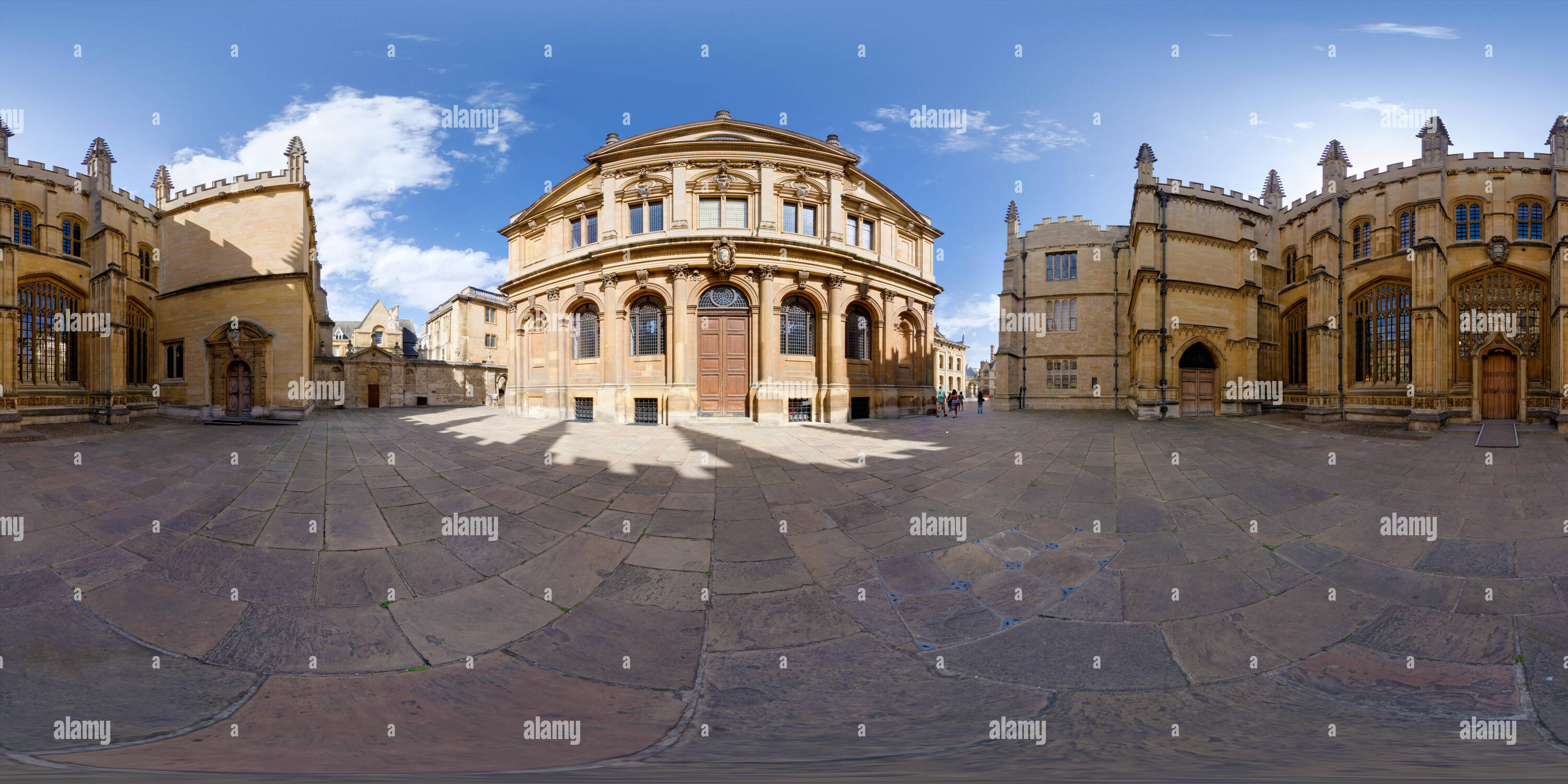 360 degree panoramic view of Sheldonian Theatre, Oxford University