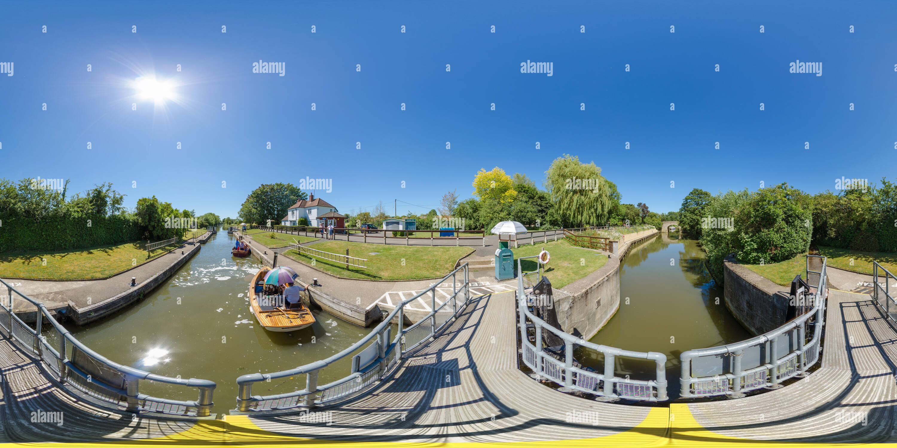 Culham lock, River Thames, Oxfordshire, UK - Stock Image