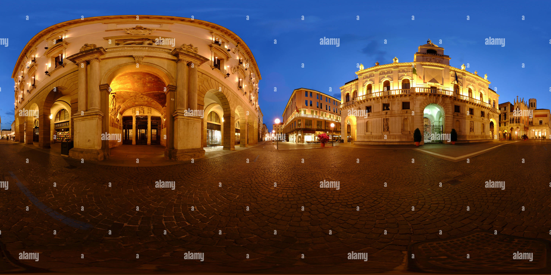 Bo University and Padua Town Hall, Italy - Stock Image
