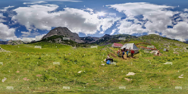 Shepherd huts - Katuni - Stock Image
