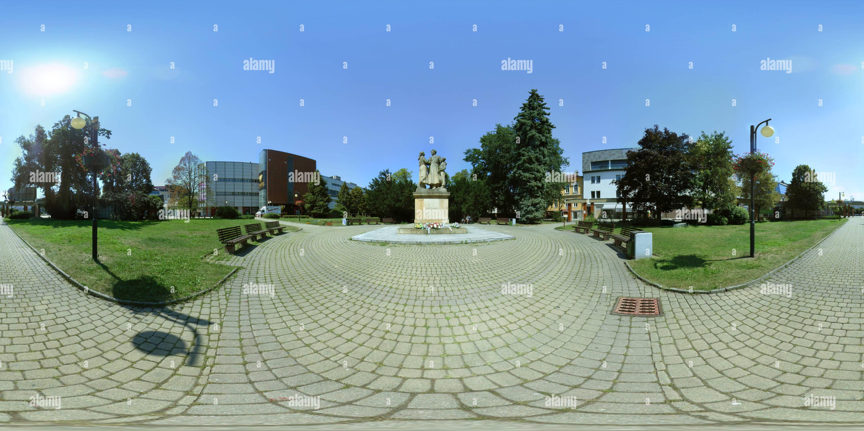 Žilina - Sad SNP (Gardens of the Slovak National Uprising) - war memorial - Stock Image