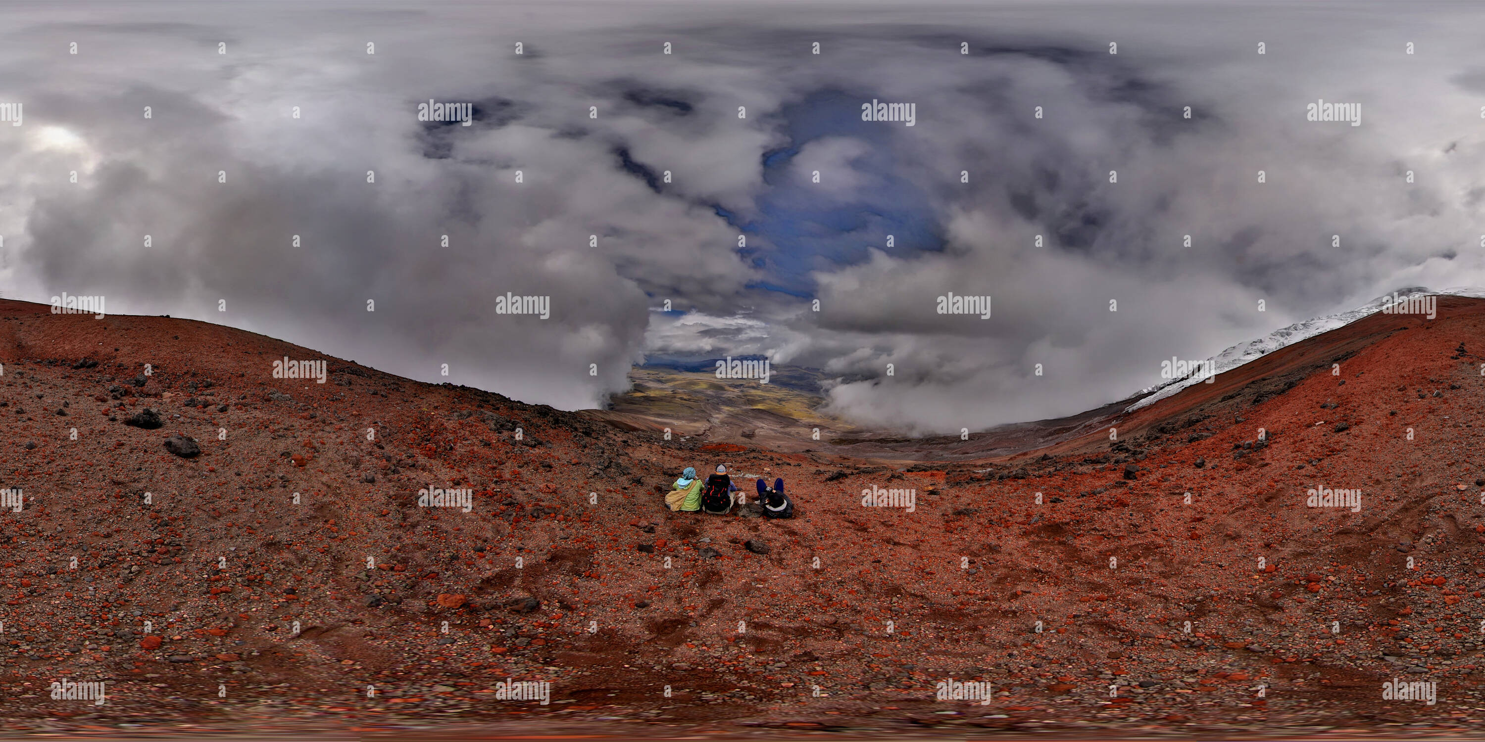 Cotopaxi Volcano - above the Refuge view 1 - Stock Image